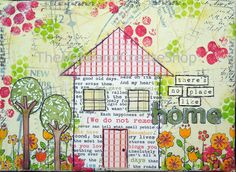There's No Place Like Home Mixed Media Canvas