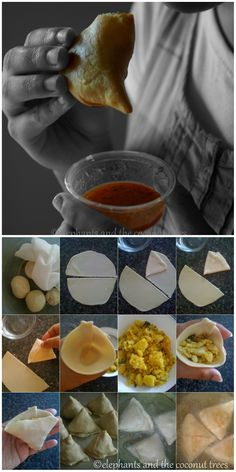How to make Indian samosas. The filling contains no onion or garlic just potatoes and few spices.