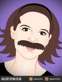 Portrait from 2011's Gallery of Mo. Jami Gibbs donated £10.00 to Movember and had a portrait created by Adam Campion. www.galleryofmo.co.uk