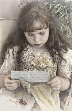 """""""Victorian Girl Reading Letter"""