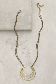 Coiled Crescent Necklace - anthropologie.com