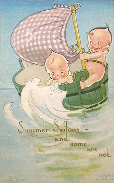 Vintage Postcard ~ Kewpie   by chicks57
