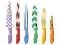 Cuisinart 12-Piece Printed Color Knife Set with Blade Guards, Multicolored Cuisinart http://www.amazon.com