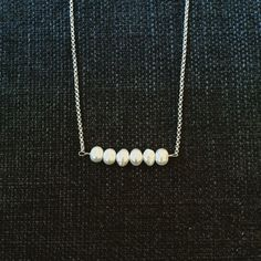 Round Pearl Line 925 S Sterling Sølv  #silver #sølv #andm #pearls #jewelry Silver Pea Chain x cm. #andm #smykkedesign #design