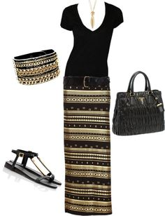 Maxi Look by honeybee20 on Polyvore
