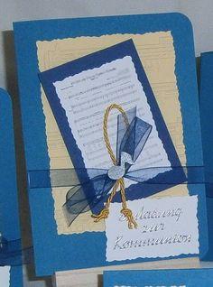 Einladung MELODIE GOTTES Kommunion Konfirmation, Fotokarton, Papier + TEXTDRUCK