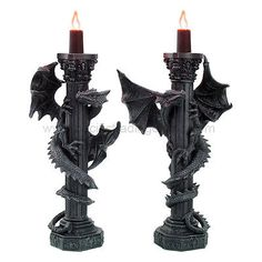 dragon candle holders