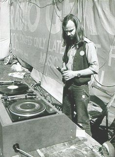 John Peel - trying to work out where to put the cassette from Half Man Half Biscuit