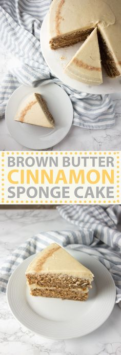 Spiced cinnamon sponge cake topped with a sweet, nutty brown butter frosting - SO good for autumn!