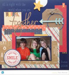 Scrapbook Layout made with the Silhouette and Cotton Canvas