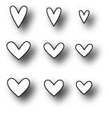 *Simon Says Stamp MINI HEARTS SET Craft DIE S142