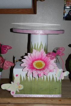 Cake stand for the butterfly party