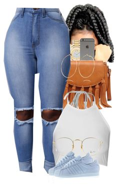 A fashion look from July 2016 featuring adidas sneakers, Sole Society shoulder bags and Movado watches. Browse and shop related looks. Lit Outfits, Cute Swag Outfits, Dope Outfits, Cute Summer Outfits, Urban Outfits, Casual Outfits, Fashion Outfits, Womens Fashion, Summer Wear