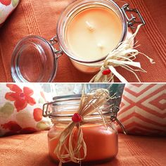 Emily Makes ... Citrus Orange Soy Wax Candle / Handmade / 120+hrs Burn Time!