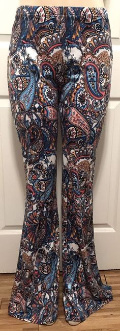 $24.00--WOMEN'S PLUS PALAZZO PANTS 1X NEW WIDE FLARED LEG XL 16 14 CUTE NWT