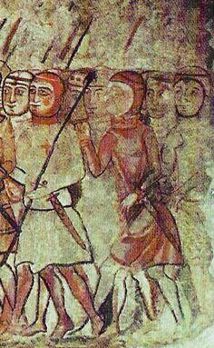 Almogàvers a la conquesta de Mallorca  Segle XIV. Saló del Tinell, Barcelona