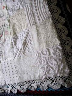 Crinoline Lady, Lace and Chenille Baby Quilt. $130.00, via Etsy.