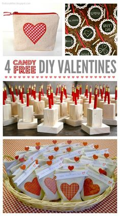 4 DIY candy free valentines ideas