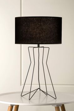 519 Gig Wire Table Lamp in Black
