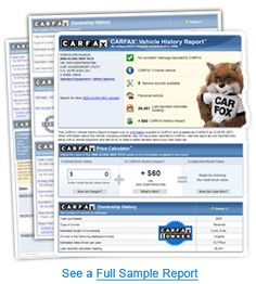 The vehicle history report that Carfax provides, checks on a lot of things. When you access Car fax online, through carfax.com, you would find out that the report looks into a number of things that include but are not limited to: service and repair information, vehicle usage, total loss accident history and lemon history.