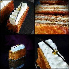 Instagram media by xaviersejournant - Mille feuilles Vanille My favotite ^^ #patisserie #cake #gourmand #chefstalk #foodporn #food #instafood #vanille #caramelized #feuilletage # beurre