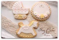 出産祝いのアイシングクッキー(女の子) : Italia 美味しい日々