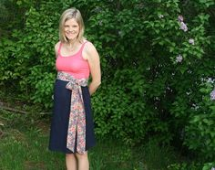 2 shirts into a dress - could be a maternity dress as well - yay tutorial!