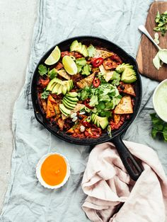 Chilaquiles with Cashew-Coriander Crema {Vegan}