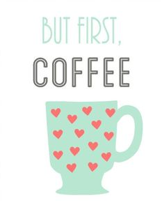 To get the morning started with fresh hot coffee ♥...:)