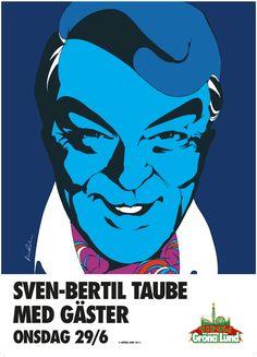Poster artist Gröna Lund. Sven Bertil Taube