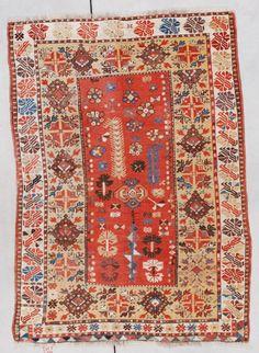 Antique Turkish Melas Melez Milas Oriental Rug Carpet
