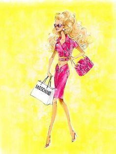 Robert Best Moschino Barbie sketch from Instagram http://instagram.com/robhbest#