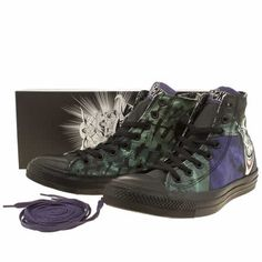 mens converse multi chuck taylor all star joker hi trainers