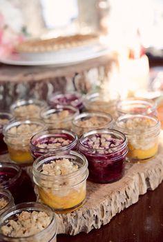 cobbler in jars! This is too cute too!