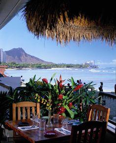 Favourite table at Duke's Restaurant, Waikiki