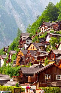 """Hallstatt, Austria - considered to be the oldest still-inhabited village in Europe, is home to just under people, and has evidence of inhabitants since prehistoric times. Sometimes called the """"pearl of Austria,"""" Hallstatt is considered to be one of Places Around The World, Oh The Places You'll Go, Travel Around The World, Places To Travel, Travel Destinations, Places To Visit, Around The Worlds, Dream Vacations, Vacation Spots"""