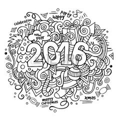 Happy New Year Coloring Pages Holiday Coloring Pages Pinterest