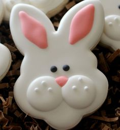 Click Pic for 28 Easter Cookie Recipes - Bunny Face - Easy Cookie Recipes for Kids | Easter Treats
