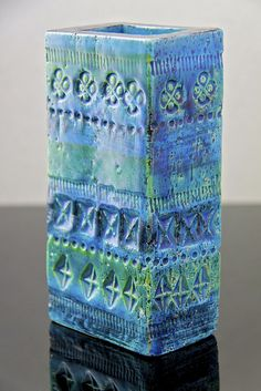 Bitossi Italian pottery Rimini Blue vase, Aldo Londi circa 1960 by afterglowretro, via Flickr