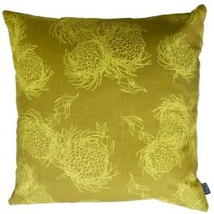 Scatter Cover Garden Bloom Butter Yellow on Lime