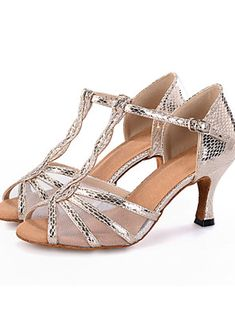 Customizable+Women's+Dance+Shoes+Latin+Leatherette+Flared+Heel+–+USD+$+55.00