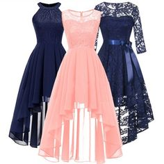 AliExpress.com Product - 2020 wedding party dress prom gown fashion clothing Front short long back dark blue halter Bow Bridesmaid DressesUS $15.95/ piece Gala Dresses, Event Dresses, Wedding Party Dresses, Bow Wedding, Summer Dresses, Party Gown Dress, Tulle Dress, Dress Prom, Uñas Fashion