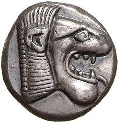 Dracma - argento - Cnido/Knidos, Caria (Turchia) (520-495 a.C.) - testa di leone vs.dx. - Münzkabinett Berlin