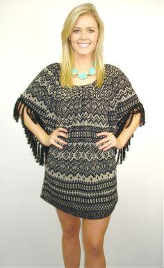 Va Va Dress, Short Dress, Sweater Dress, Patterned Dress