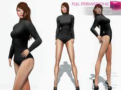 20da0ae572710e Second Life Marketplace - Full Perm Rigged Mesh Ladies Long Sleeve  Bodysuit… Long Sleeve Bodysuit