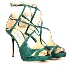 mytheresa.com - Jimmy Choo - MISTY GLITTER SANDALS - Luxury Fashion for Women / Designer clothing, shoes, bags
