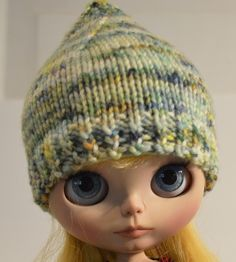 Blythe doll pixie hat, knitted Blythe hat, Blythe doll clothing, Blythe hat, Eclectic Wandering, Minnesota handmade, Blythe doll accessory by EclecticWandering, $8.25 USD