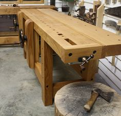 Woodworking Benches Maguire Wagon Vice - The English Woodworker - Workbench Designs, Workbench Plans, Woodworking Workbench, Woodworking Shop, Woodworking Projects, Wood Projects, Workbench Table, Garage Workbench, Woodworking Techniques