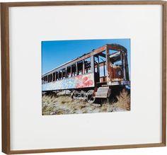 walnut box frame 8x10    CB2