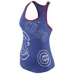 Women's Chicago Cubs Nike Royal Marled Tank 1.6